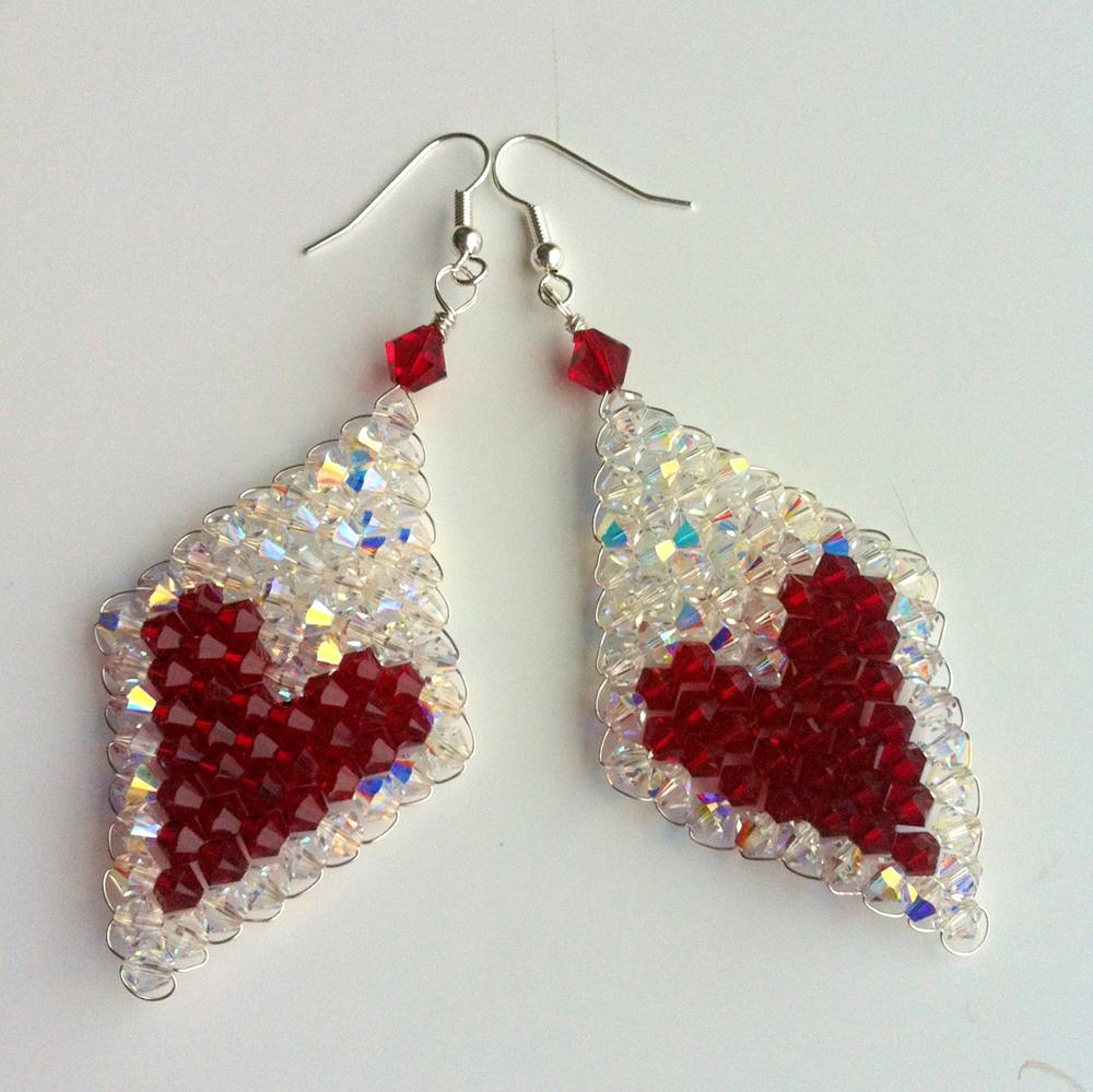 Make your own beaded heart earrings « London Jewellery School
