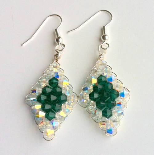 make cystal earrings