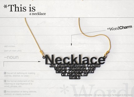 tickette slogan jewellery