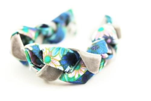 recyled fabric bracelet