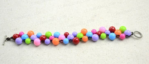 jewellery making beaded bracelet