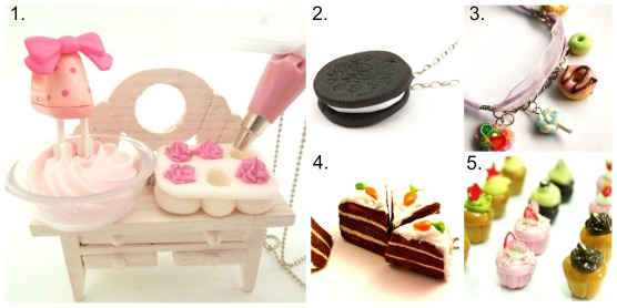 polymer clay food jewellery