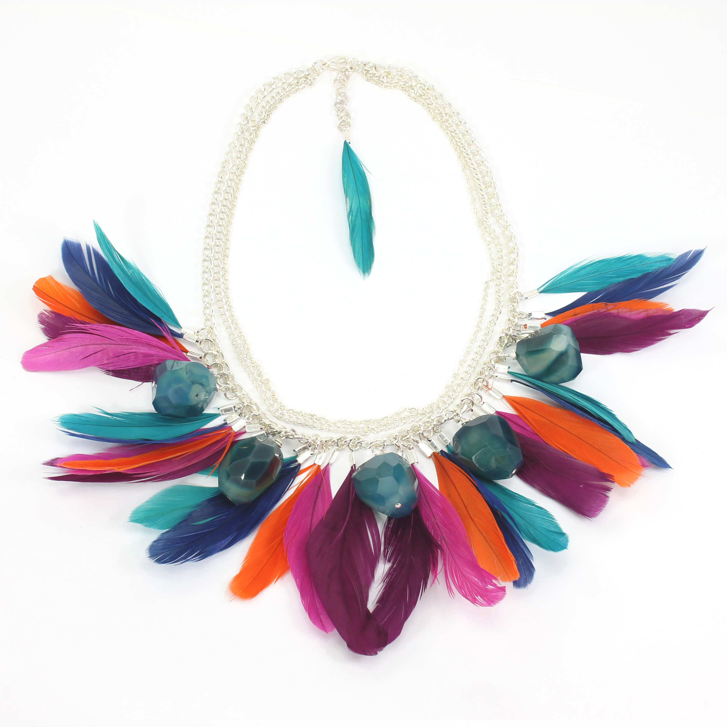 det brampti feathered blackberry suede necklace christina feather sahara