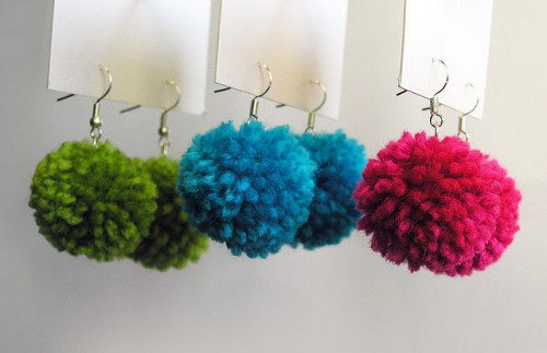 pompom jewellery, making jewellery