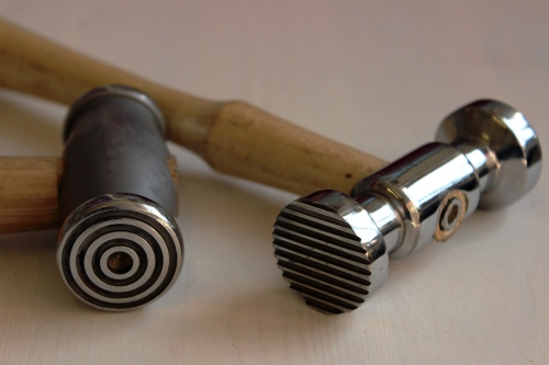 jewllery making textureing hammers silver