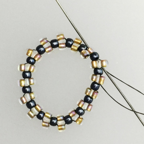 bead weaving earrings