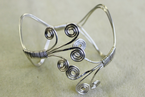 wire wrapped bracelet
