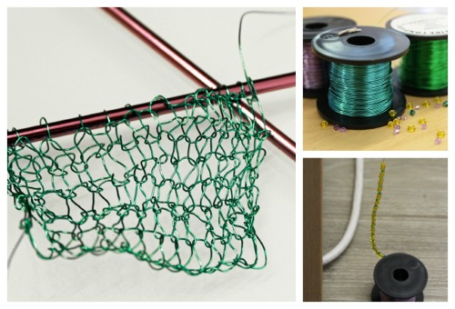 wire knitted jewellery
