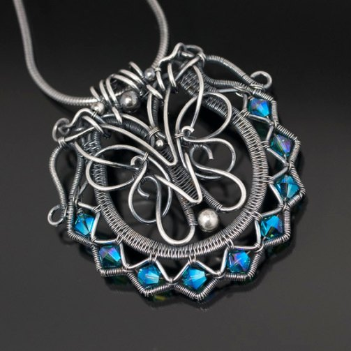 wire weaving jewellery