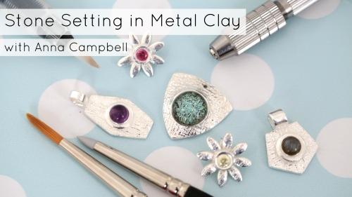 Class Pic Stone Setting in Metal Clay