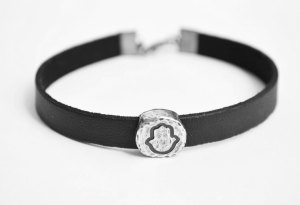 London Jewellery School Blog_Mens Jewellery_hamsa-bracelet-for-men-black-faux-leather-mens-by-principles-
