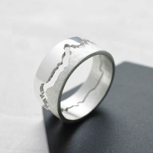 London Jewellery School Blog – Men's Jewellery - normal_mens-coastline-map-ring
