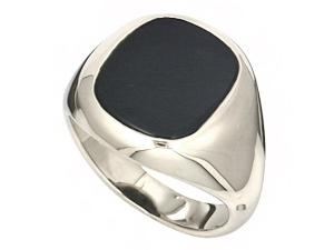 London Jewellery School Blog - Men's Jewellery - mens_sterling_silver_onyx_cushion_signet_ring