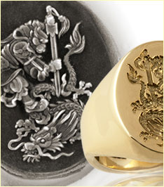 London Jewellery School Blog - Men's Jewellery - Monkey-Dragon-Chinese-Ring-&-Wax-sm