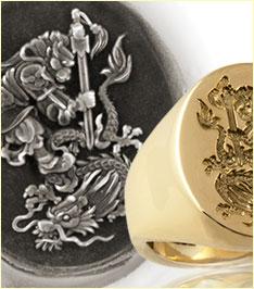 London Jewellery School Blog - Men's Jewellery - Monkey-Dragon-Chinese-Ring-&-Wax-sm