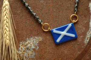Patriotic Jewellery_Scottish Fused Glass Flag