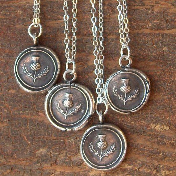 Scottish thistle seal pendants london jewellery school scottish thistle seal pendants aloadofball Image collections