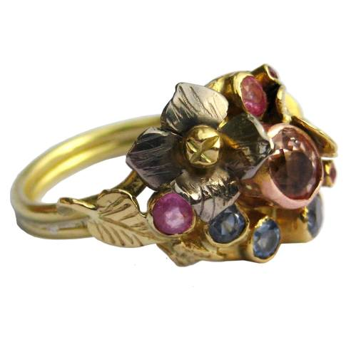 London-Jewellery-School-Jewellery-Maker-of-the-Year-2016-competition-shortlist-Kim-Styles-Morganite-and-sapphire-cluster-ring