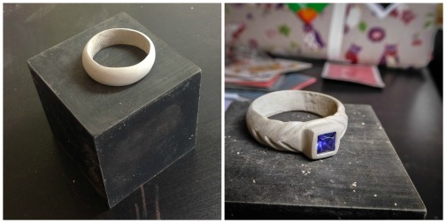 london-jewellery-school-studio-warming-metal-clay-demo-art-clay-950-stone-set-ring