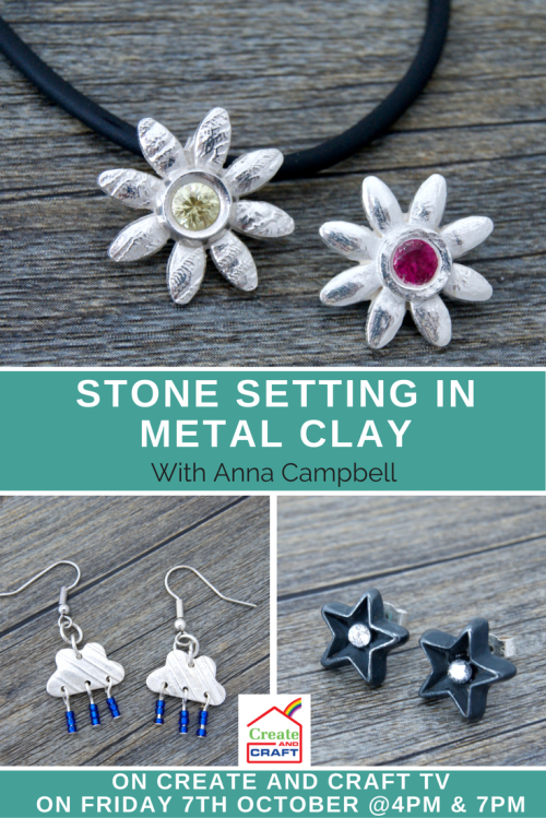London-Jewellery-School-Blog-Create-and-Craft-TV-stone-setting-in-metal-clay-with-Anna-Campbell