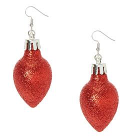 London Jewellery School Blog Red Christmas Bauble Earrings