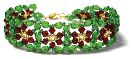 LJS-Blog-christmas-jewellery-beaded-bracelet-Poinsettia