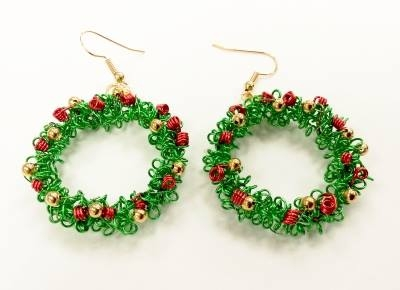 wirework-christmas-wreath-earrings-kit-pre-coiled-wire-with-swarovski-elements-green-red-226-p