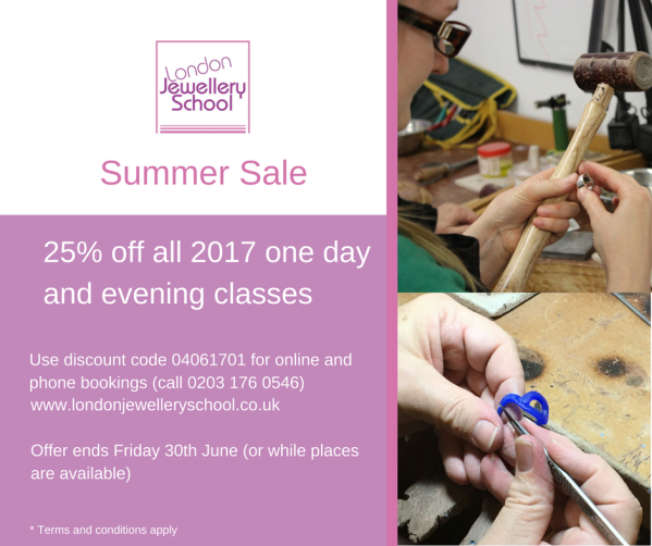 london-jewellery-school-summer-sale-2017