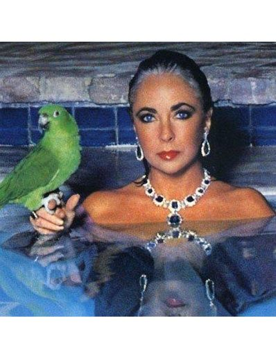 london-jewellery-school-blog-Elizabeth-Taylor-in-pool-with-parrot-sapphire
