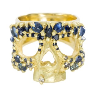 london-jewellery-school-blog-sapphire-river-gold-skull-ring-polly-wales