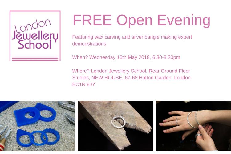 london-jewellery-school-open-evening-may-2018