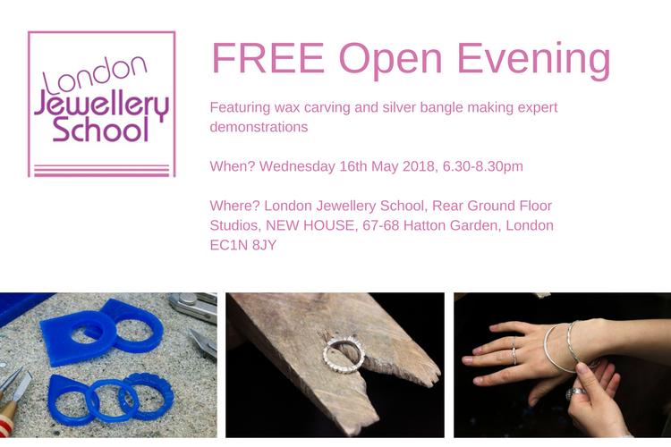 london-jewellery-school-open-evening-may-2018