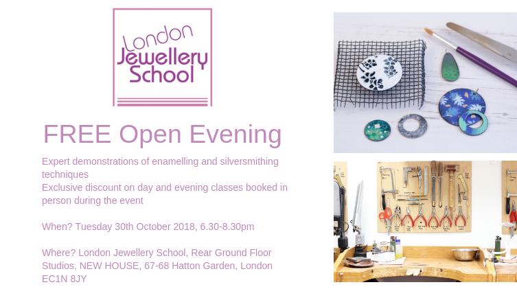 open-evening-london-jewellery-school-october-2018