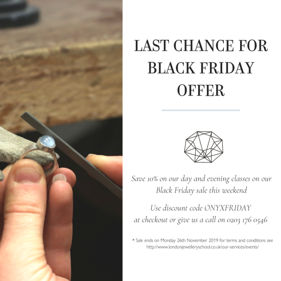black friday sale offer london jewellery school